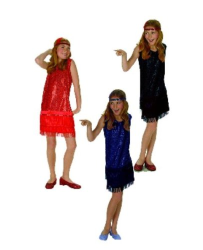 Sequin Flapper - Blue, Small Child Costume