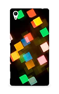 AMEZ designer printed 3d premium high quality back case cover for Sony Xperia Z4 (abstract lights blocks )