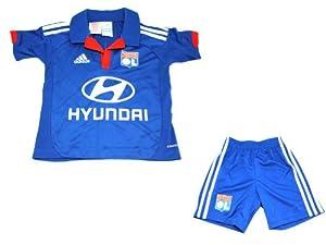 Adidas OL MINI Bleu Enfant Mini Kit Maillot Foot Olympique Lyonnais ClimaCool Adidas T:5 Ans