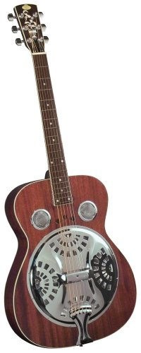 Regal Traditional Series Studio resonator Guitar with Power Reflex Sound Chamber (Mahogany)
