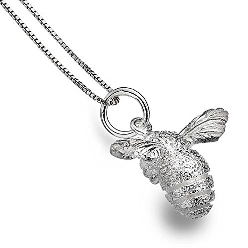 sterling-silver-925-textured-bee-pendant-necklace-in-gift-box