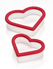 2 Heart Cookie Cutters