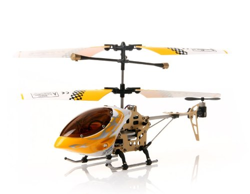3.5-Channel Remote Control Helicopter with Gyroscope and Lights (Yellow)