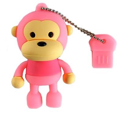 4GB USB Flash Drive Novelty USB Monkey Pink from CyberloxShop