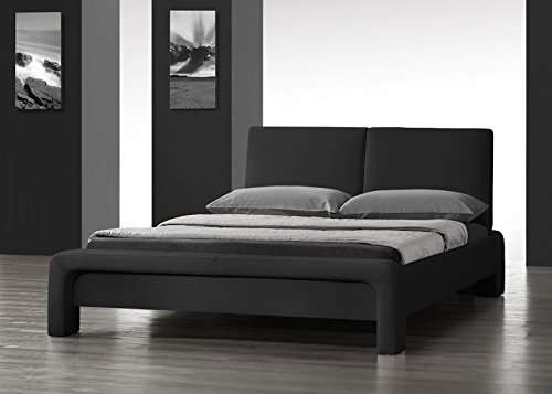 stunning-modern-designer-black-double-size-faux-leather-bed-unique-design
