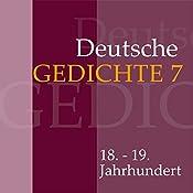 Deutsche Gedichte 7: 18. - 19. Jahrhundert |  div.