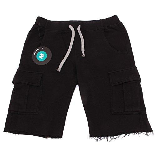 9698P bermuda uomo JCOLOR nero pantalone corto shoer men [L]