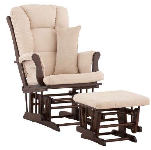 Purchase Stork Craft Custom Tuscany Espresso Finish Glider and Ottoman with Free lower lumbar pillow...