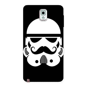 Stylish Mustach Black Back Case Cover for Galaxy Note 3