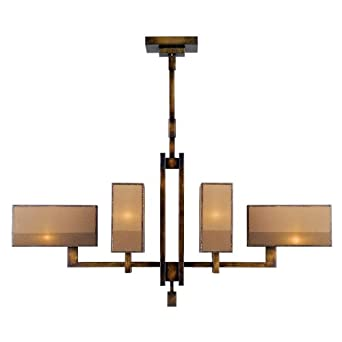 Fine Art Lamps Perspectives 734040ST Six-Light Pendant