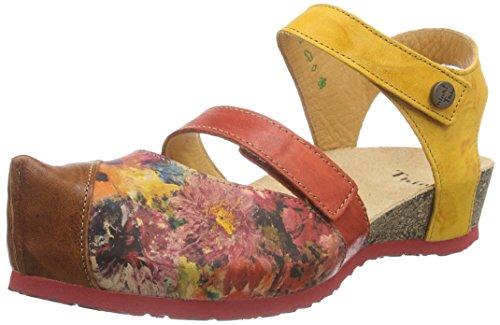Think!Kessy Sandale - Sandali con Cinturino alla Caviglia Donna , Rosso (Rot (CHILLI/KOMBI 76)), 38