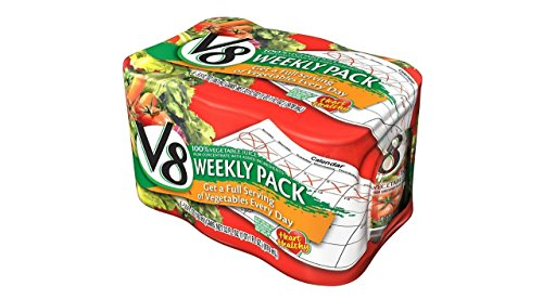 V8 Vegetable Juice 100%, 5.5 Oz, 6 Ct Cans, 8 Pk