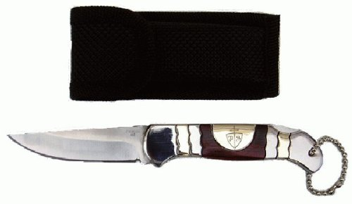 "3"" 2 Tone Folding Pocket Knife With Pouch"
