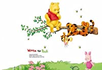 Winnie the Pooh and Tigger on the Tree Peel & Stick Wall Decal from Kappier