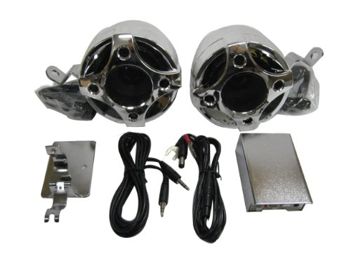Shark Shkcyclekit Motorcycle Yacht Snowmobile Marine Audio 2 Speakers+Amp W/ All Brackets For Install