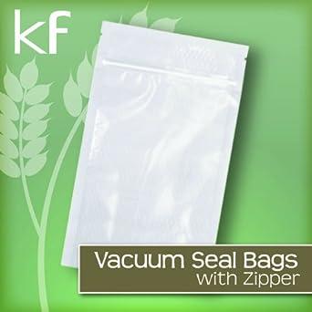 100 - 8 x 12 Zipper Vacuum Sealer Bags 3.5mil StaVac Quart Size MADE IN USA by STAVac