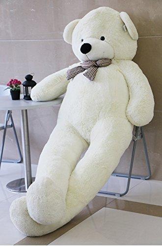 Joyfay-91-Giant-Teddy-Bear-White-Stuffed-Plush-Toy-Soft-Animals