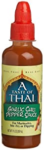 A Taste Of Thai Garlic Chili Pepper Sauce 7 Ounce Jars Pack Of 12 by A Taste of Thai