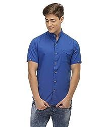 Jogur Royal Blue Color Casual Shirt for Men