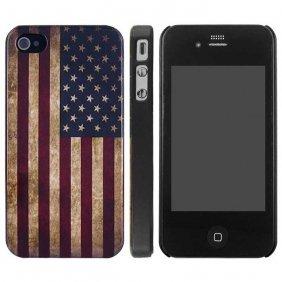 Amazon.com: Antique & Rustic American Flag iPhone 4/4S