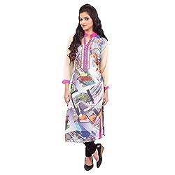 Radhya Women's Unstiched Kurti (Pan08_Multi Color)