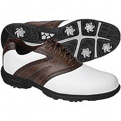 Buy Etonic Lite-Tech Golf Shoes White Brwn Dk Brwn 8.5M by Etonic