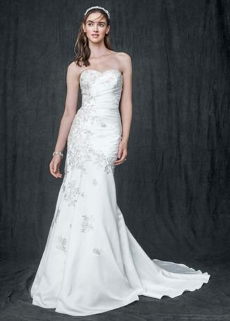SAMPLE: Satin Trumpet Wedding Dress with Sweetheart Neckline Style AI10030350...