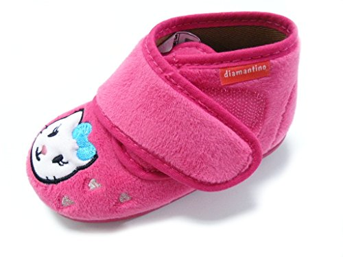 DIAMANTINO PANTOFOLA VELCRO PRIMI PASSI HELLO KITTY FEMMINA FUXIA