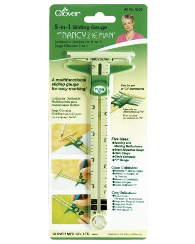 Great Deal! Clover 5 In 1 Sliding Gauge with Nancy Zieman