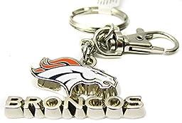 NFL Denver Broncos 3-Dimensional Zamac Metal Keychain
