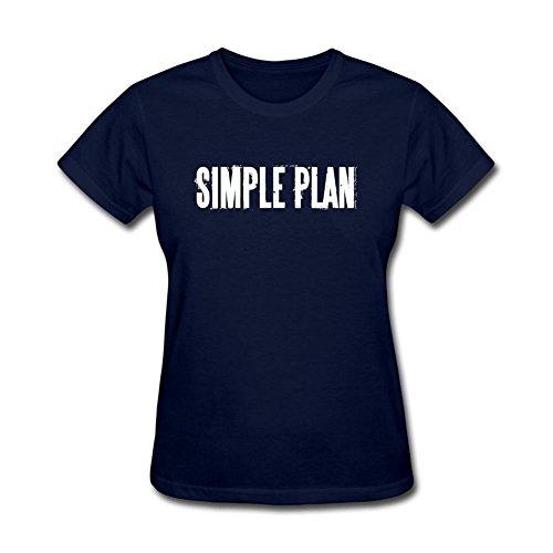 Newm Women's Simple Plan Logo O Neck Short Sleeve T Shirt