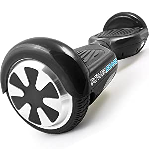 Powerboard by HOVERBOARD - 2 Wheel Self Balancing Scooter with LED Lights-Hands Free Battery Powered Electric Motor-The Perfect Personal Transporter-USA Company (black)
