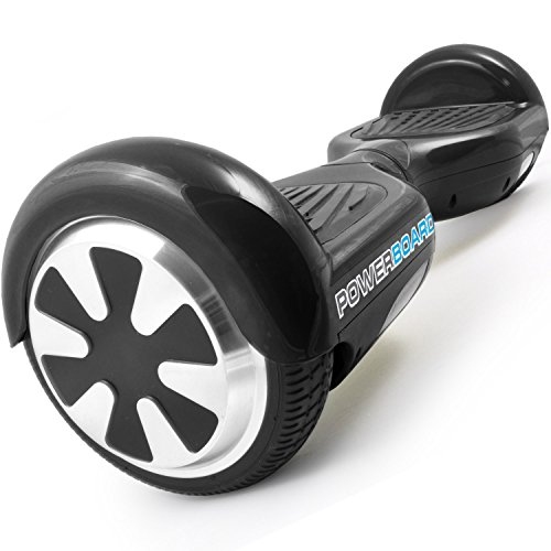 Powerboard by HOVERBOARD - (SAFE UL 2272 CERTIFIED) Black - 2 Wheel Self Balancing Scooter with LED Lights - Hands Free Battery Powered Electric Motor --Personal Transporter - USA Company