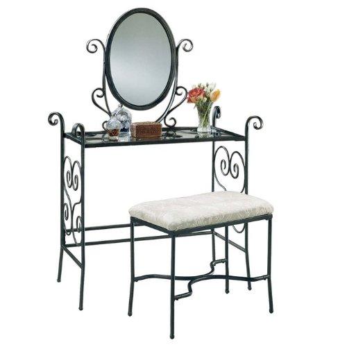 Powell 935-290 Garden District Mirror Bench Bedroom Vanity