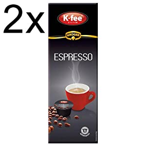 Shop for K-fee System Espresso, Pack of 2, 2 x 16 Capsules from Krüger GmbH & Co. KG