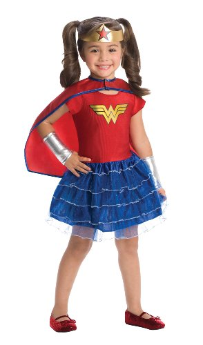 Wonder Woman Toddler Costume Tutu Dress Set, Blue/Red