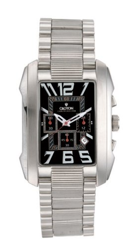 CROTON MENS CHRONOMASTER FLEX ROLL-BAR LINK WATCH BLACK - Buy CROTON MENS CHRONOMASTER FLEX ROLL-BAR LINK WATCH BLACK - Purchase CROTON MENS CHRONOMASTER FLEX ROLL-BAR LINK WATCH BLACK (Croton, Jewelry, Categories, Watches, Men's Watches, Casual Watches)