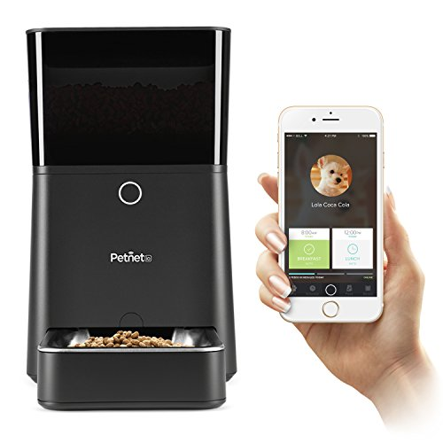 Petnet SmartFeeder Automatic Pet Feeding from Smartphone, Black