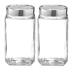 Treo Cube Jar 1000Ml Set Of 2 Glassware