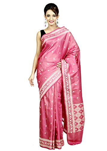 AIACA Saree with Blouse Piece (PRJ-MBK-SRI-003_Pink_Free Size)