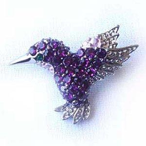 Platinum-Plated Swarovski Crystal Hummingbird
