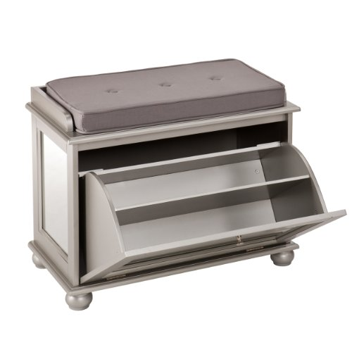 Southern Enterprises Stella Mirrored Shoe Bench