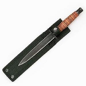 Fury British Commando SAS Fixed Blade Knife with Web Sheath, 10.75-Inch
