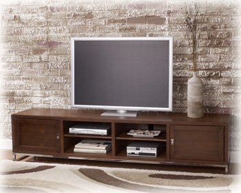 Cheap Walnut Stain Extra Large TV Stand – Signature Design by Ashley Furniture (T391-22)