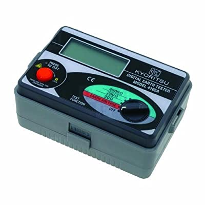 Kyoritsu 4105A-H Digital Earth Resistance Tester with Hard Case, 20/200/2000 Ohms, 0-200V AC Voltage