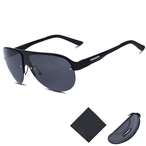 HODGSON Aviator Polarized Sunglasses for Men Women, AL-MG Frame Unbreakable Lens ¡