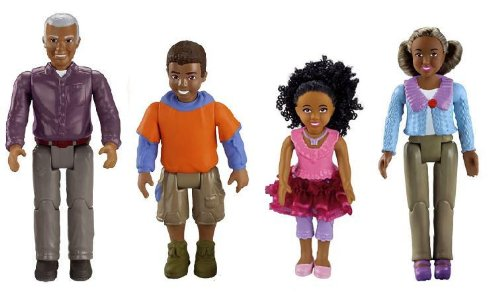 Fisher Price Loving Family Dollhouse AFRICAN AMERICAN GRANDMA, GRANDPA, BROTHER, SISTER