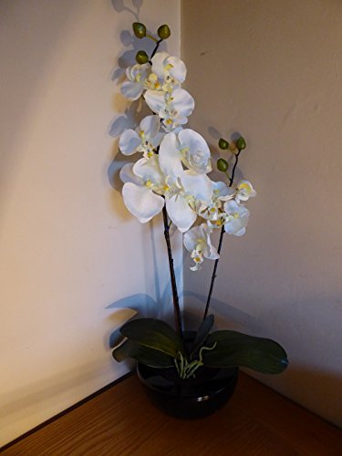 uk-gardens-large-white-orchid-artificial-potted-plant-46cm-tall-with-silk-flowers-in-a-ceramic-round