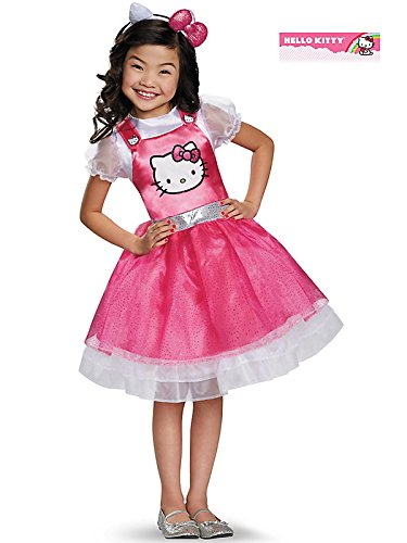 Hello Kitty Pink Deluxe Costume for Kids