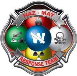 Hazmat Maltese Cross Fire Rescue Decal - 2